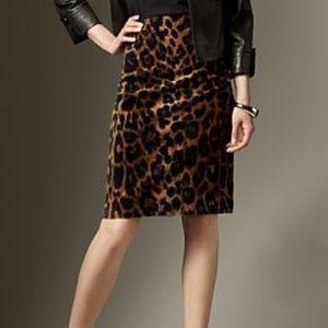 Talbots Leopard Print Skirt sz 2P